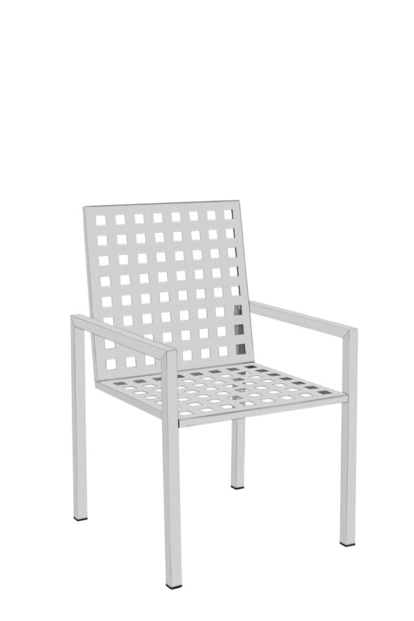 Stuhl aus Edelstahl