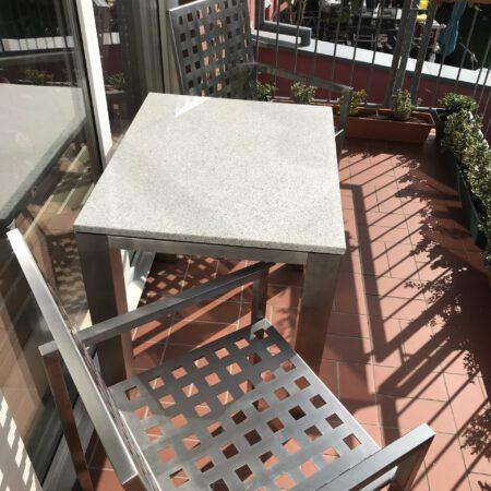 Balkon Garnitur aus Edelstahl